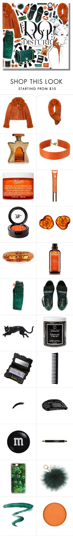 """""""Do not disturb;"""" by jennn ❤ liked on Polyvore featuring HIDE, Anja, Andrew Marc, Bond No. 9, Vanessa Mooney, Kiehl's, Clarins, Beauty Is Life, Be-Jewelled and MM6 Maison Margiela"""