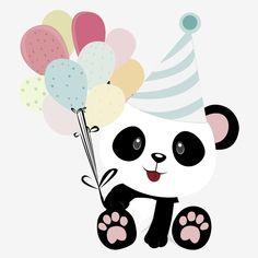 hat,birthday,color,birthday clipart,cute clipart,hat clipart,balloons clipart,color clipart Panda Themed Party, Panda Birthday Party, Panda Party, Birthday Cartoon, Funny Birthday, Birthday Ideas, Birthday Banner Background, Happy Birthday Balloon Banner, Balloon Background