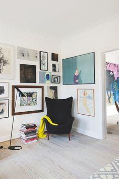 Une maison où l'art à une place de choix (2) #home #decor #YourNewRoommate