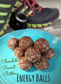 Chocolate Peanut Butter Energy Balls recipe #recipe.  Healthy and tasty!