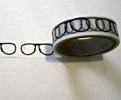 Glasses Washi (decorative craft paper) Tape  #eyewear #eyeglasses #etsy