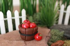 Miniature Apples Polymer Clay Apples Terrarium by GnomeWoods: