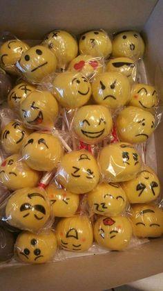 Emoji cake pops...