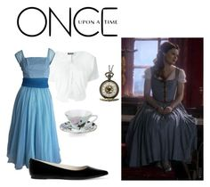 """""""Belle"""" by childofgod0214 ❤ liked on Polyvore featuring Twin-Set, MICHAEL Michael Kors, Portmeirion and Once Upon a Time"""