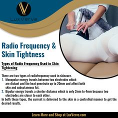 RF Treatment Types and Uses - Liposuction Radio Frequency Skin Tightening, Loose Skin, Body Sculpting, Liposuction, Knee Pain, Acne Scars, Beauty Rehab, Back Pain, Anti Aging