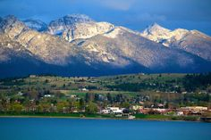 Polson, MT on a crisp day Wonderful Places, Beautiful Places, Montana Homes, Montana Living, Flathead Lake, Big Sky Country, Adventure Awaits, Wyoming, Vacation Spots