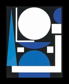 Auguste Herbin 1882-1960) - Nude, 1960. French Cubist and later abstract painter whose work forms a bridge between the Cubist movement and post-war geometrical abstract painting.  Invented a system of abstract painting set out in his book L'Art Non-Figuratif Non-Objectif 1949. The pure geometrical shapes and positive colours of his later abstract works had considerable influence on various younger abstract painters. Was also active in the 1950s as a designer of tapestries. Died in Paris