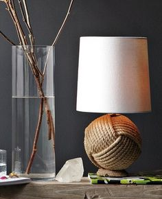 Unique rope table lamp