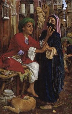 The Lantern Maker's Courtship, A Street Scene in Cairo by William Holman Hunt