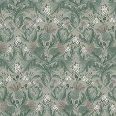 Thistle by Boråstapeter - Green - Wallpaper : Wallpaper Direct