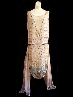 1924 French Beaded Silk Evening Dress