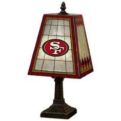 MAN CAVE: NFL San Francisco 49ers 14 Inch Art Glass Lamp