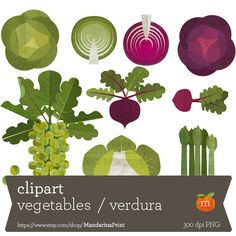 INSTANT DOWNLOAD - vegetables beautiful - CLIPART Personal and Commercial Use-paper crafts, card making, scrapbooking, web design