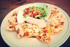 Easiest quesadillas you'll ever make: http://tinyurl.com/j58463g #foodblog #quesadillas #guacamole #recipe #cheddar #jalapeño