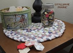 Old-Fashioned Braided Rug Style Placemats