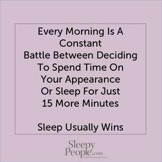 Sleep ALWAYS wins!