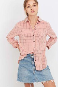 BDG Girlfriend Pink Flannel Shirt