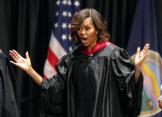 Michelle Obama tells students to monitor family members for 'racial insensitivity.'