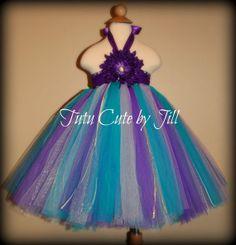 "Ariel ""Little Mermaid"" Inspired Tutu Dress In TEAL by TutuCuteByJill, $47.00"