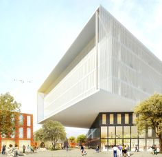The Beam, view from the town (Image courtesy of MVRDV)
