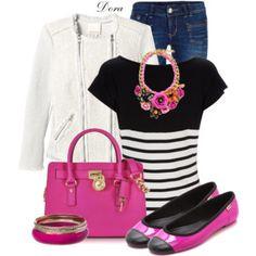hot pink shoes&bag