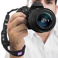 Camera Hand Strap - Rapid Fire Heavy Duty Safety Wrist Strap by Altura Photo w/ 2 Alternate Connections for Use w/ Large DSLR or Point