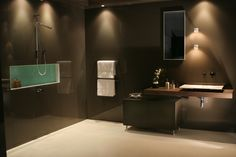 Deco Glaze toughened glass wall cladding for bathrooms.