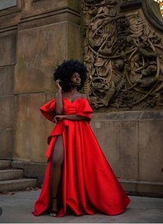 Red prom dresses with slit,Red vintage prom dress, African clothing for women,African wedding dress for women, wedding reception dress African Wedding Dress, African Dress, African Prom Dresses, Vintage Prom Dresses, Black Girl Prom Dresses, Red Wedding Dresses, African Clothes, Ankara Dress, Modest Wedding