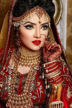 stunning bridal makeover by zahid khan, Bangladesh