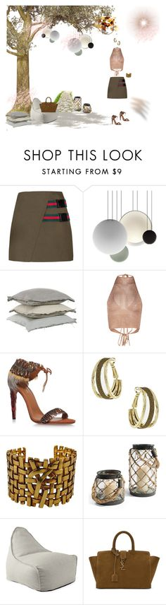 """Fab*you*lous Fashion"" by studiodinteriors ❤ liked on Polyvore featuring Vibia, Aquazzura, ANNA, Dorothy Perkins, Yves Saint Laurent and Serena & Lily"