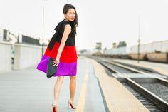 Colorblock :: Trapeze dress