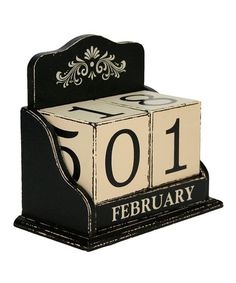 Take a look at this Perpetual Block Calendar by A Way With Words: Home Décor & Accents on #zulily today!