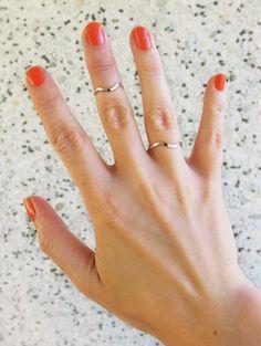 Mid finger ring - Wave