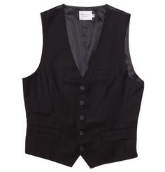 Shades of Grey - Suit Vest-Black Suiting