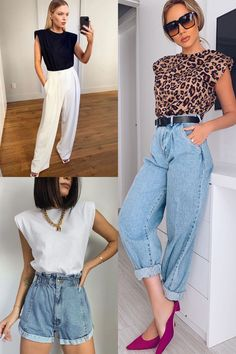 Casual Fall Outfits, Chic Outfits, Classy Outfits, Fashion Outfits, Summer Outfits, Womens Fashion, Looks Style, Casual Looks, Muscle Tee Outfits