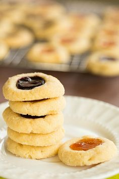 Classic Thumbprint Cookies by @Michelle (Brown Eyed Baker) :: www.browneyedbaker.com