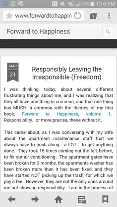 My new #blog on forwardtohappiness.com #responsibility #integrity #ethics #bebetter #livingfirstedition #beworthy #narcissism