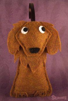 Felt Dog Ornament - Cinnamon the Golden Retriever: Felt Dogs, 20 00, Golden Retrievers, Holiday Ornaments, Ornament Cinnamon, Handmade Holiday