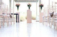 A vintage wedding ceremony set up in the Turbine Hall foyer - decor by D'Masque Turbine Hall, Conference Planning, Wedding Reception, Wedding Venues, Wedding Decorations, Table Decorations, Centre Pieces, Event Decor, Foyer