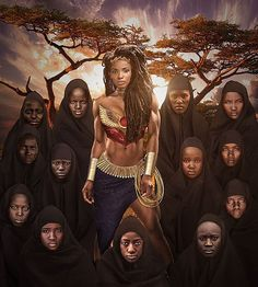 """""""Wonder Woman And The Abducted Girls"""", created by Foi O Mordomo on Facebook.com ▫ PLEASE NAME THE ARTIST WHEN REPOSTING THIS ART ON YOUR PAGE ▫ #wonderwoman #themyscira #afrika #blacksuperhero #blacksuperheroes #justiceleague #thejusticeleague #african #africans #niqab #hijabi #dccinematicuniverse #dcextendeduniverse #superhero #superheroes #superheros #dcu #nubiamancy #blackart #photomanipulation #dcuniverse #dcuo #dcmancy #darkskin #photoartist  #scifi #sciencefiction #scifiart #photoart ▫…"""