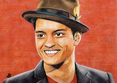 Bruno Mars - Watercolor Pencil