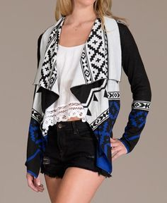 i want this so bad!!!!!!! blue aztec cardigan sweater fall ...