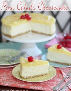 Pina Colada Cheesecake wm