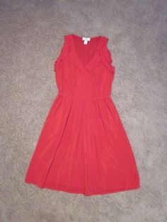 Ann Taylor LOFT short dress Red and Gold on Tradesy