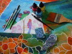 Painting fabric blog