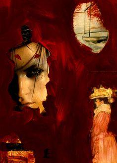 """39-Toulouse Lautrec x Cris Acqua.  Pintura Mixta Collage. 30x21 cm.  HOMENAJE :""""Mi amor por este genial pintor...dueño de los trazos más libres y geniales de la Belle epoque, me han influido totalmente en mi camino por el arte..."""" (Cris Acqua)  http://www.crisacqua.com"""