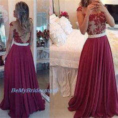 beautiful wine red prom dress, #promdress, #promdresses, #longpromdress