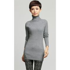 Solid Color  Hurtleneck Silm Sweater 3Colors