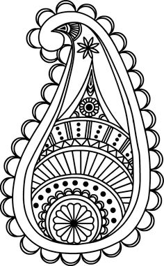 Drawings of Paisley Design - Bing images Paisley Art, Paisley Design, Paisley Pattern, Paisley Doodle, Damask Patterns, Zentangle Patterns, Embroidery Patterns, Hand Embroidery, Zentangles