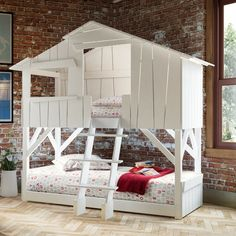 9 of the Most Insanely Cool Beds for Kids - Kids Bedroom Design Ideas - Country Living Modern Bunk Beds, Twin Bunk Beds, Kids Bunk Beds, Bunk Bed Playhouse, Cool Bunk Beds, Tree House Bunk Bed, Cool Beds For Kids, House Beds For Kids, Bunk Beds For Girls